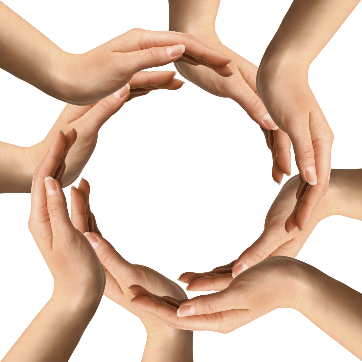 1386x1385 Hands Circle Clipart