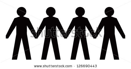 450x240 People Holding Hands In A Line Clipart