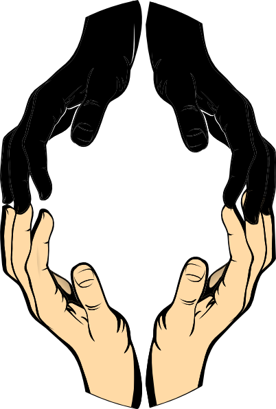 402x596 Silhouette Helping Hands Clipart