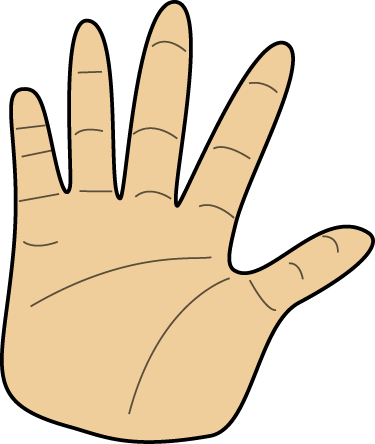375x444 Hands Clip Art Hand Cartoon Clipart Kid 2