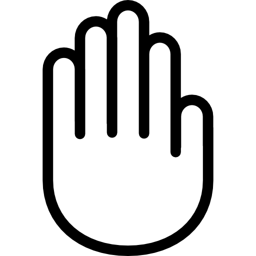 512x512 Hand Outline, Handshake, Gestures, Hand, Hands Outline, Hands Icon