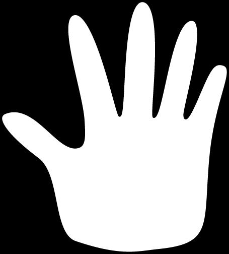 455x504 Hand Outline Clip Art Image Clipart Panda