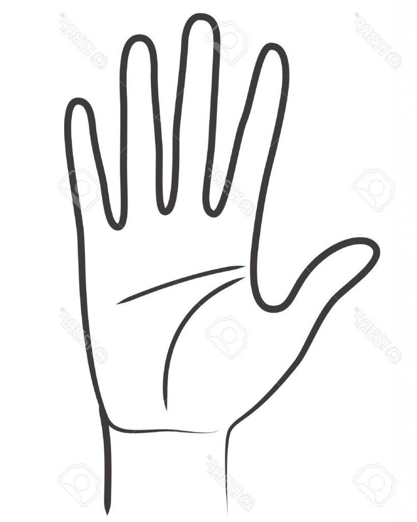 819x1024 Hand Outline Drawing 40 Hands Outline Clipart