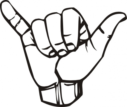 425x358 Hand Outline Vector