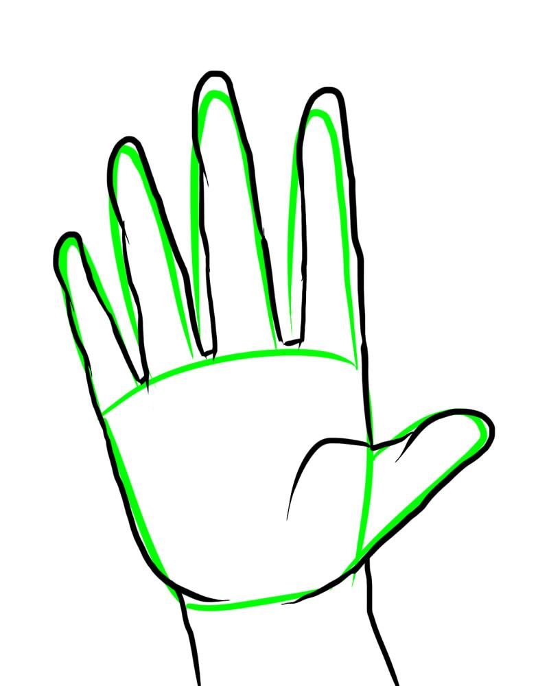 800x1000 Hand Palm Outline Clipart Panda