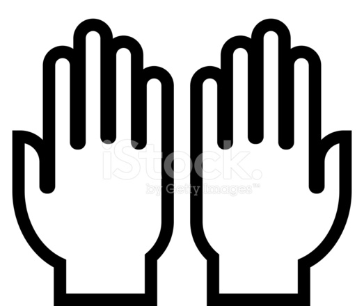523x440 Hands Outline Icon Stock Vector