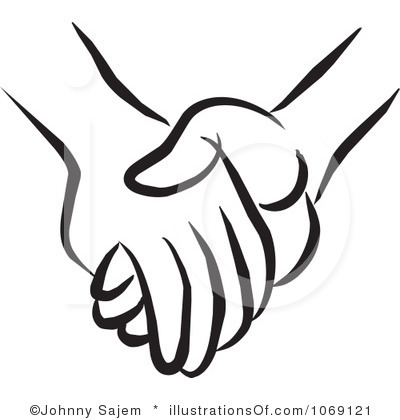 400x420 Holding Hands Black And White Clipart