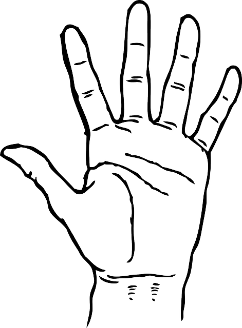 471x640 Photos Of Open Hand Outline Template