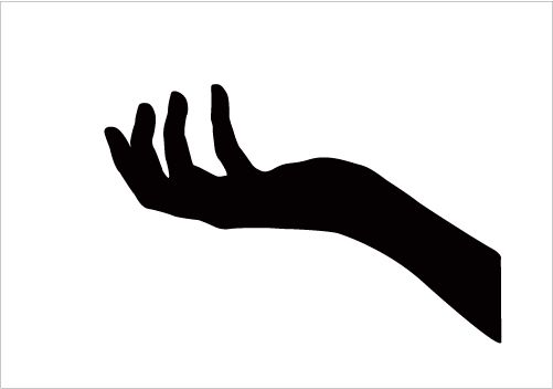 Hands Silhouette Clipart
