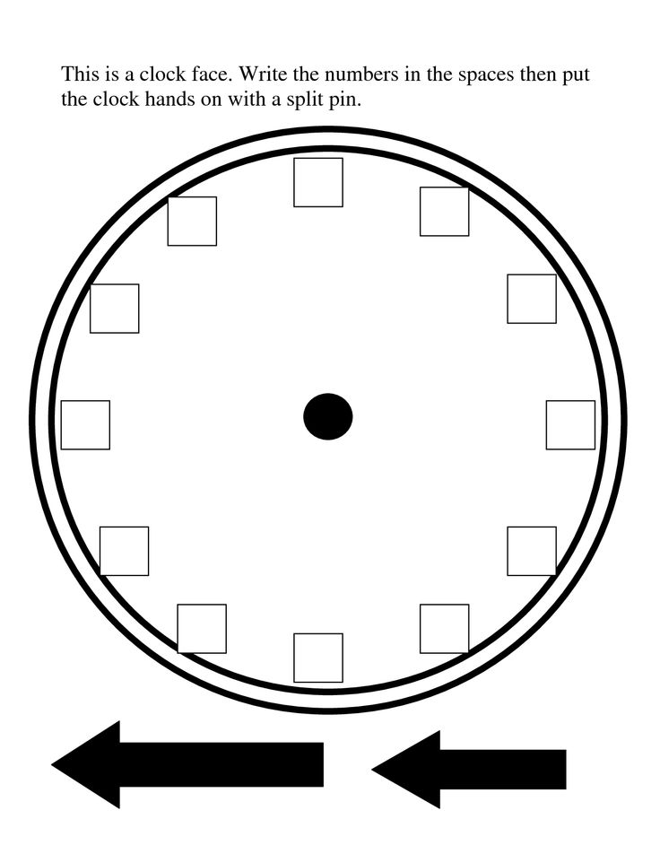 Comprehensive image inside printable clock face with hands
