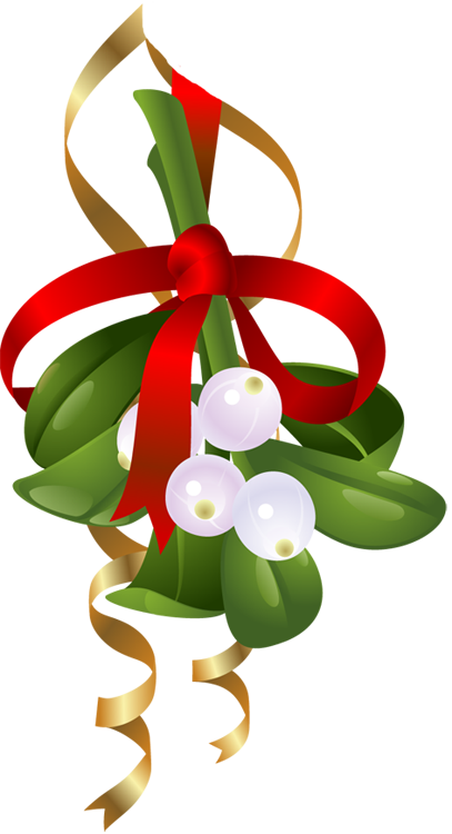 407x750 Hanging Mistletoe Clipart