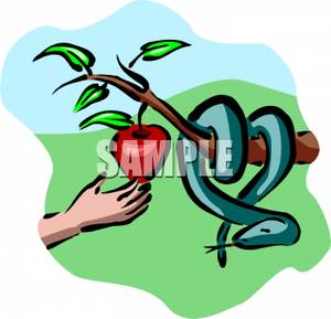 300x289 Person Picking An Apple Off An Apple Tree, And A Snake Hanging