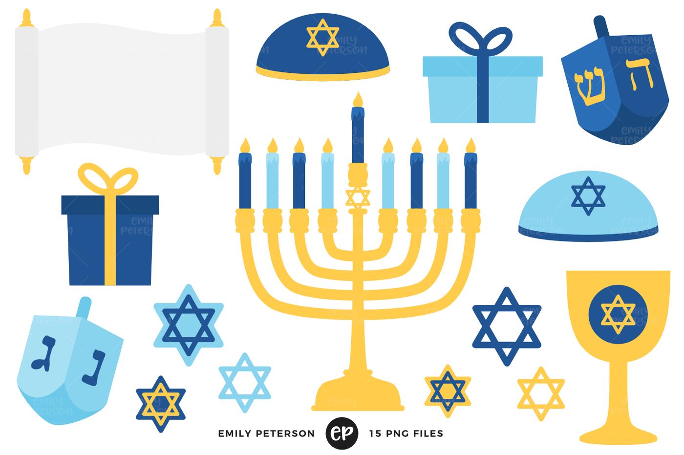 1400x931 Hanukkah Clipart By Emily Peterson Studio