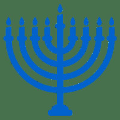 400x400 Happy Hanukkah Candles Sign Transparent Png