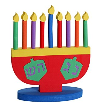 339x355 Hanukkah Menorah Toy For Kids Soft Foam Removeable