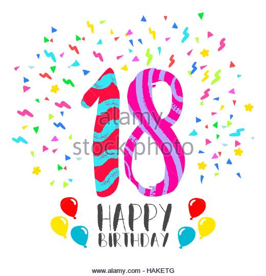 520x540 Happy 18th Birthday Cut Out Stock Images Amp Pictures