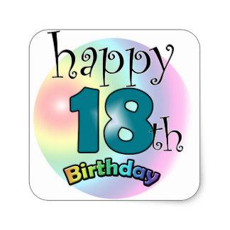 324x324 Happy 18th Birthday Stickers Zazzle