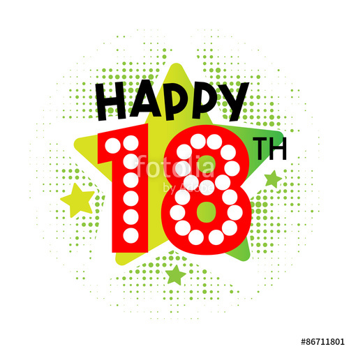 500x500 Happy 18th Birthday Stock Image And Royalty Free Vector Files