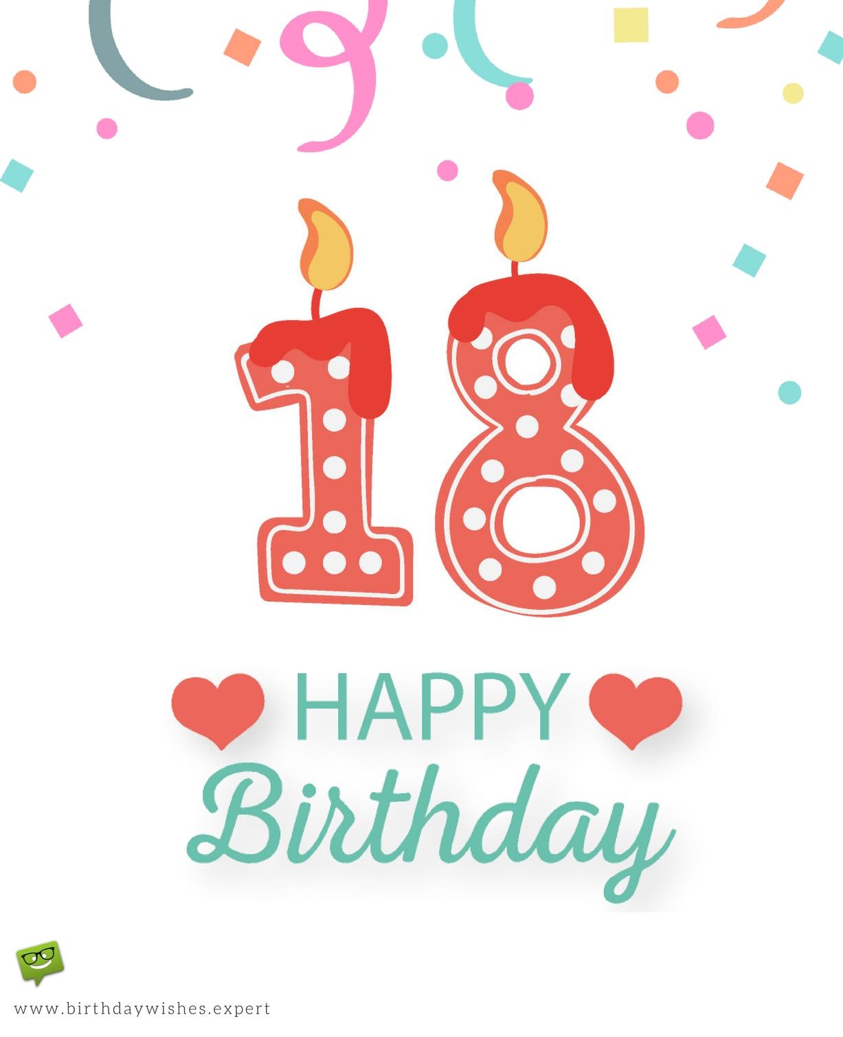 1227x1508 Happy 18th Birthday. Greetings