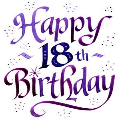 400x400 Happy 18th Birthday Clipart Collection