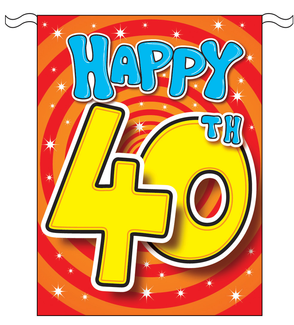 Happy 40th Birthday Clipart Free Download Best Happy