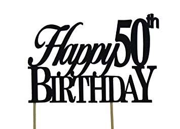 355x254 Black Happy 50th Birthday Cake Topper Kitchen Amp Dining