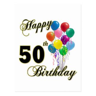 324x324 Custom Happy 50th Birthday Postcards Zazzle.co.uk