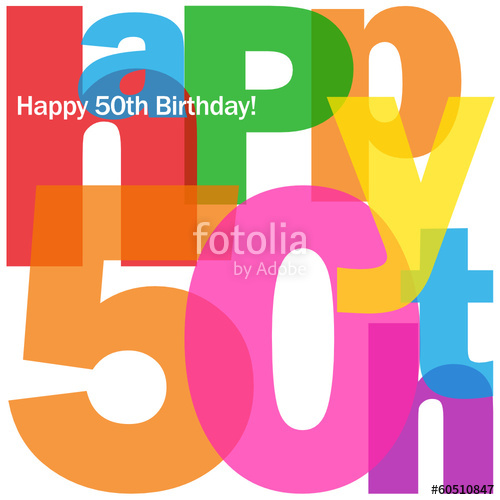 500x500 Happy 50th Birthday Card (Fifty Party Celebration Congrats