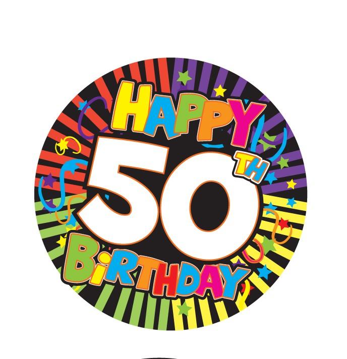 688x712 50th Birthday 3 Inch Button
