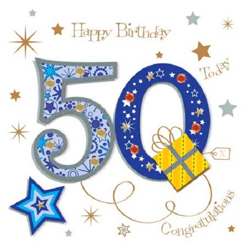 500x498 Happy 50th Birthday Greeting Card By Talking Pictures Cards