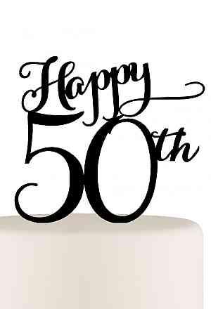 300x440 Happy 50th Birthday Or 50th Anniversary Cake Topper Niki