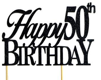 340x270 Silver Happy 60th Birthday Cake Topper 1pc