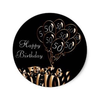 324x324 50th Birthday Stickers Zazzle