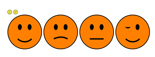 524x192 Drawn Smileys Frowny