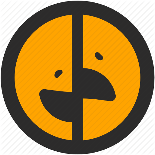 512x512 Emoji, Expressions, Happy, Roundettes, Sad, Smiley, Two Faces Icon