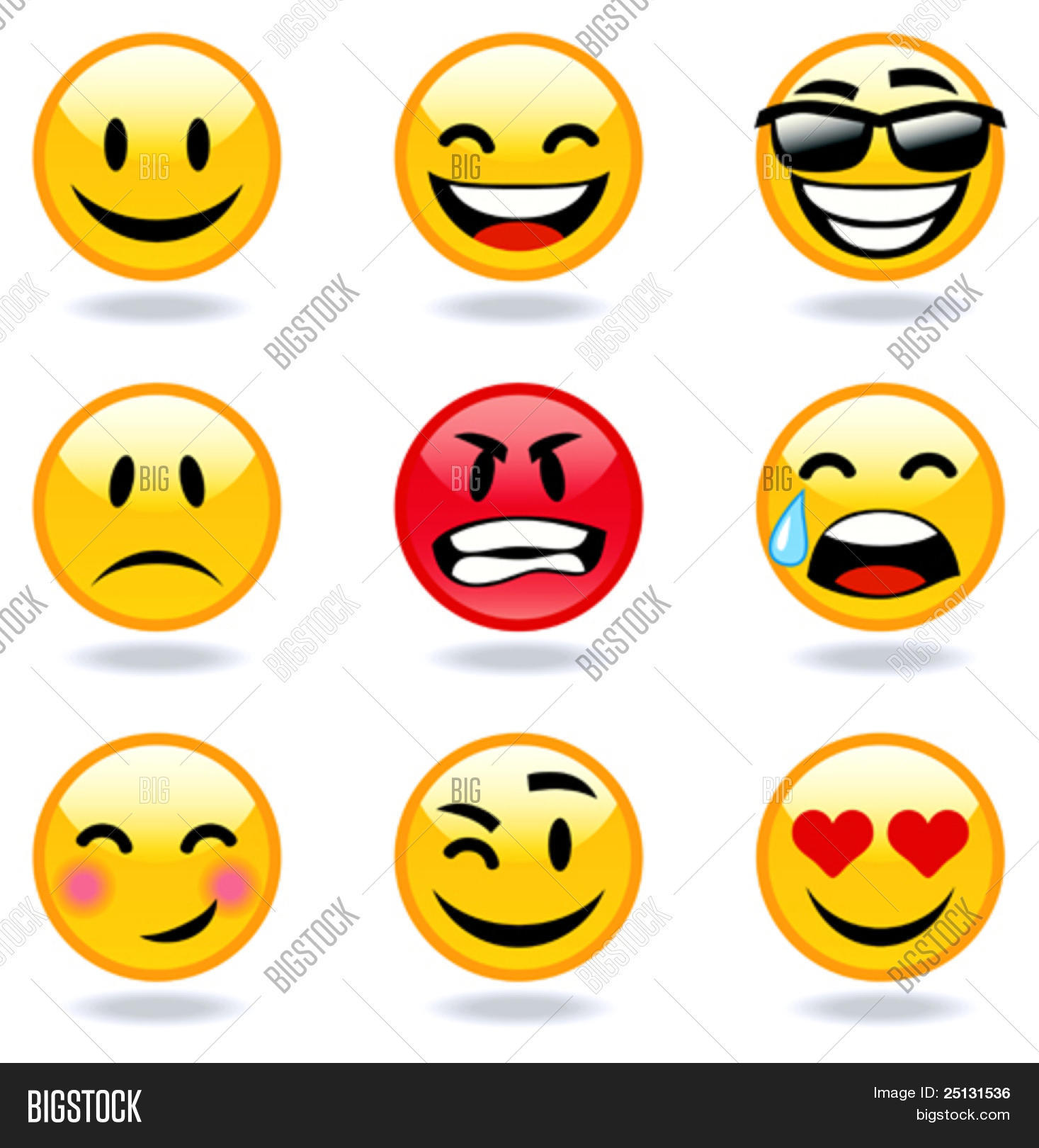 1467x1620 Happy, Sad, Angry, Love Faces Vector Amp Photo Bigstock