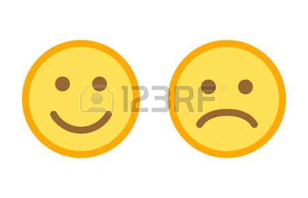 450x289 Happy And Sad Emoji Smiley Faces Flat Vector Color Icon For Apps