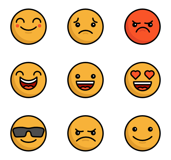 600x564 Smiley Icons