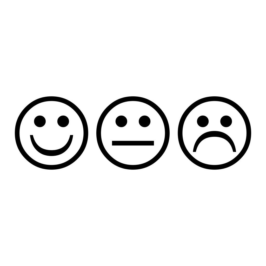 1024x1024 The Story Of Emoji On Twitter Happy, Indifferent And Sad Faces