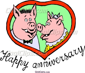 300x257 Happy Anniversary Pigs Vector Clip Art