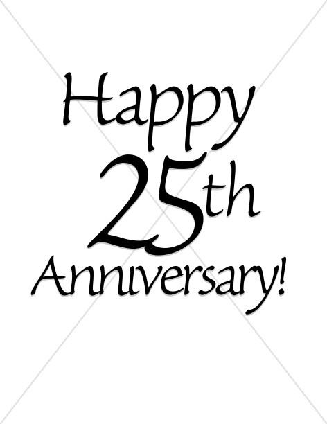 472x612 Happy 25th Anniversary! Wordart Christian Anniversary Clipart