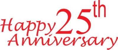 400x171 25th Anniversary Cliparts