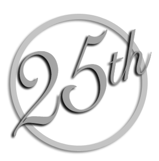 323x327 25th Anniversary Clipart Wedding