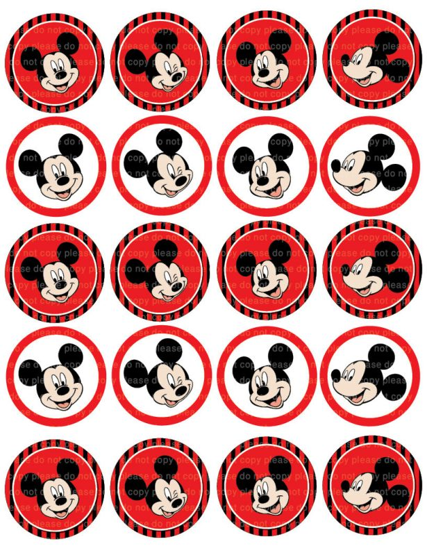 615x796 Free Printable Mickey Mouse Cupcake Toppers Minnie And Best Images