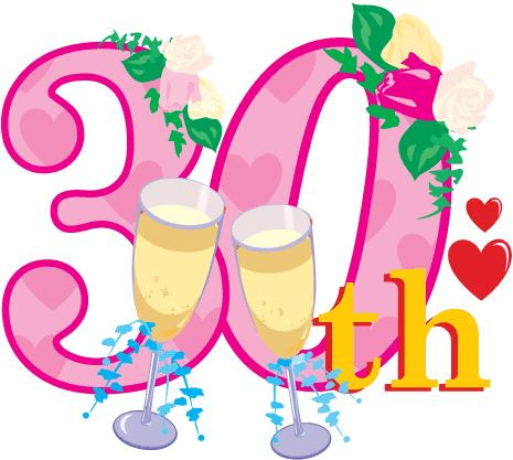 465x417 30 Year Work Anniversary Clip Art