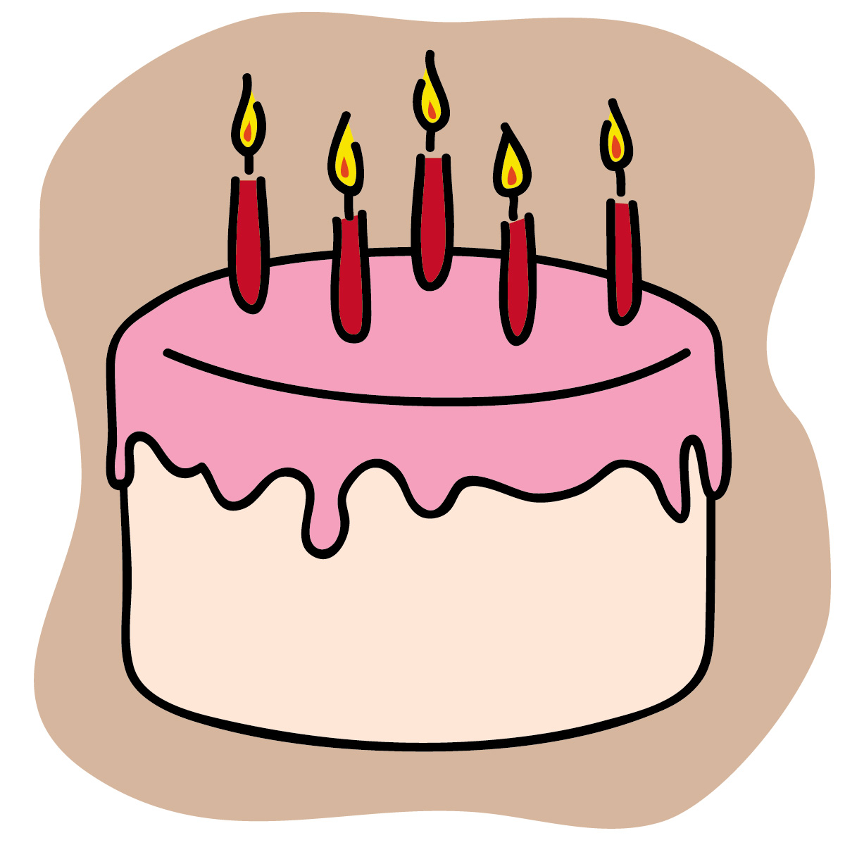 1200x1200 Happy Birthday Cake With Name Edit For Facebook Clip Art
