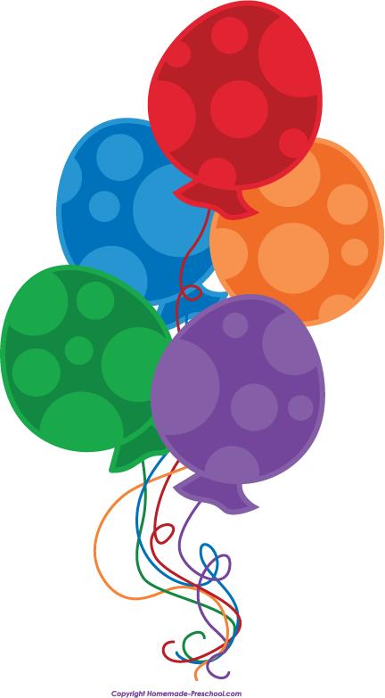 432x783 Birthday Balloon Clip Art