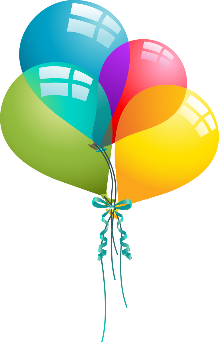 767x1200 Happy Birthday Balloons Clip Art Images And Vector Birthday Cakes