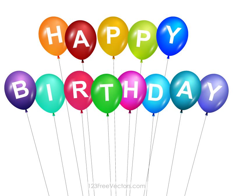 800x675 Happy Birthday Balloons Clip Art Download Free Vector