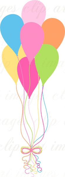 221x600 Happy Birthday Balloons Clip Art Images And Photo
